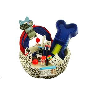 Complete Small Dog or Cat Set Blue Bowl-Tunnel-Bed-Toys-Brushes-Coller+Much More