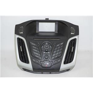 2012-2014 Ford Focus Radio Dash Trim Bezel w/ Hazard Switch & Phone Controls