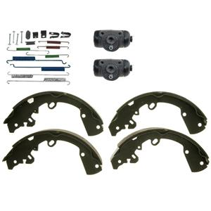 Rear brake shoes w/ spring kit & wheel cylinders Fits Hyundai Accent 2013-2017