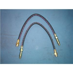 Brake hose set ( 2 hoses ) Chevrolet Corvette front 1963-1982 Made in USA