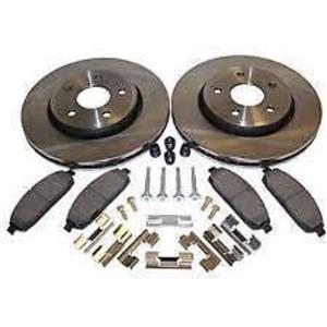 Honda CRV Brake rotor Kit Front also Element 2002-2011 Pads Rotors & Hardware