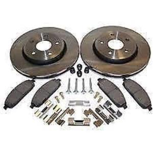 Brake kit rotors pads & hardware Fits: Sentra 2000-2006