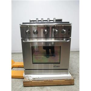"""Dacor Renaissance 30"""" Stainless 4 Sealed Burners Pro-Style Gas Range ER30GSCHNG"""