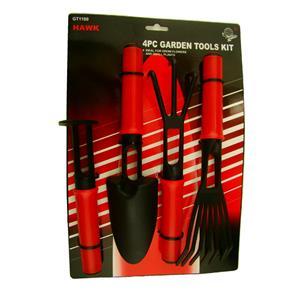 4pc Small Garden Tool Set - All Plastic - Rake-Claw-Shovel & Hoe Kids Zen Box