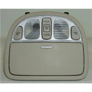 2007-2012 Hyundai Santa Fe Overhead Console w/ Closed Storage & Sunroof Switch