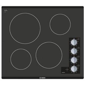 "BOSCH 500 Series 24"" Framless Control Black Glass Electric Cooktop NEM5466UC IMG"