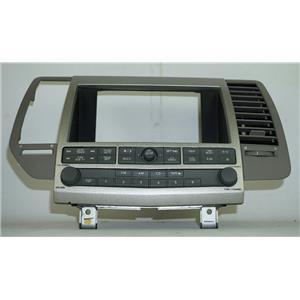 2004-2006 Nissan Maxima Radio Dash Bezel w/ Vent, Audio & Visual Controls