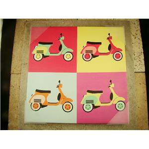 Vintage Vespa Scooter Pop Art on Canvas