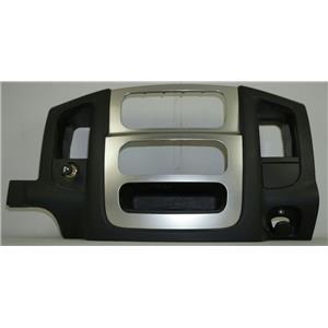 2002-2005 Dodge Ram 1500 2500 Radio Climate Dash Silver Trim Bezel w/ 12v Outlet