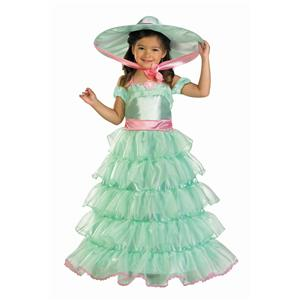 Turquoise Southern Belle Child Deluxe Costume Small 4-6