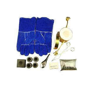 Propane Gas Fast Furnace Kit-Conical Mold, Kiln, Tips, Gloves, 4Crucibles, Tongs