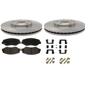 Disc brake Rotor kit 2009-2014 REAR  pads rotors hardware fits Outback Forester
