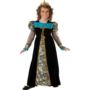 Black Camelot Princess Child Costume Dress and Tiara Size Small 4-6