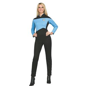 Deluxe Star Trek Next Generation Science Uniform Womens Jumpsuit Blue X-Small