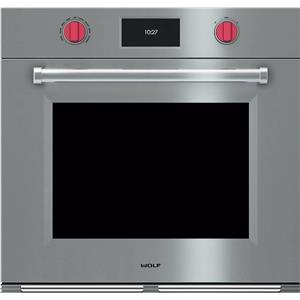 "Wolf M Series 30"" 10 Mode Dual Convection SS Single Electric Wall Oven SO30PMSPH"