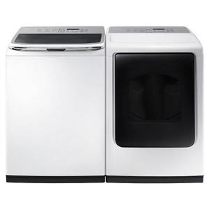 Samsung White Touch Control Washer And Dryer set WA50K8600AW/ DV50K8600EW