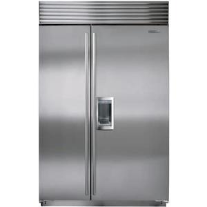 NIB Sub-Zero 48 Inch 18.7 cu. ft Built-in SS Side-by-Side Refrigerator BI48SDSTH