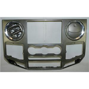 2008-2010 Ford F250 F350 FX4 Radio Manual Climate Center Dash Bezel Chrome Vents