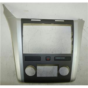 2009-2012 Chevrolet Traverse Radio MANUAL Climate Dash Trim Bezel Hazard Switch