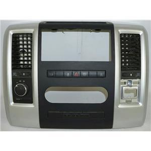 10-12 Dodge Ram 2500 Center Dash Radio Climate Bezel w/ Vents 4WD & Diesel Brake