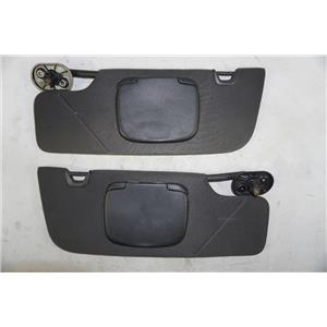 2005-2011 Ford Mustang Convertible Only Sun Visor Set Covered Mirrors