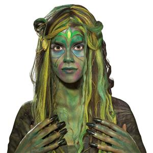 Green Swamp Green Queen Medusa Wig