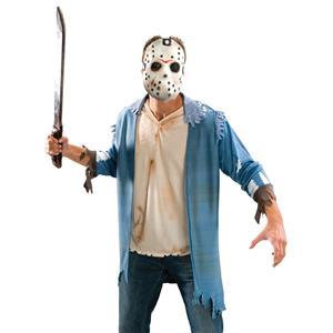 Friday The 13th Jason Voorhees Costume Blister Kit Shirt Mask Machete