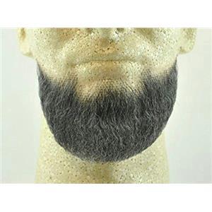 Dark Grey Human Hair Goatee Chin Beard Costume Beard 2023