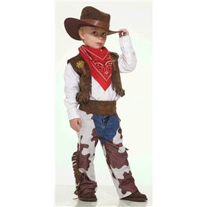 Western Cowboy Costume Dress Up Playset Size Toddler 2-3T
