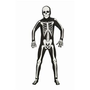 "Disappearing Man Skeleton Bone Suit Costume Teen up to 40"" chest"