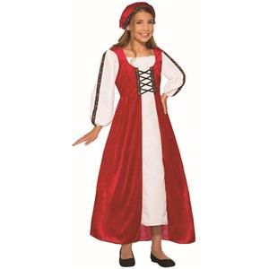 Red Renaissance Faire Dress Girls Costume Size Large 12-14