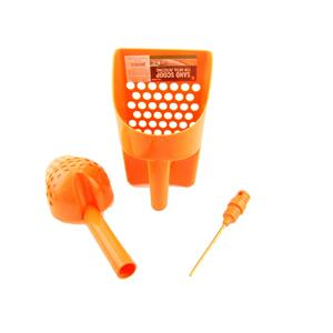 2-ORANGE Sand Scoops for Metal Detecting + Coin Probe & GOLD Treasure Hunting