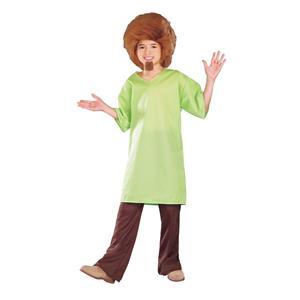 Scooby Doo: Shaggy Child's Costume Wig Goatee Shirt Size Medium 8-10