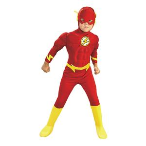 DC Comics Deluxe Muscle Chest The Flash Boys Child Costume Size Medium