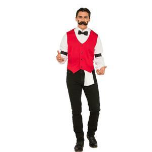 Saloon Western Bartender Old Time Dealer Adult Costume X-Large