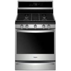 "Whirlpool 30"" True Convection Voice Control Freestanding Gas Range WFG975H0HV"