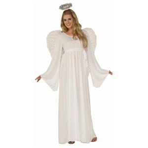 Angel Adult Value White Dress Plus Size Costume XL