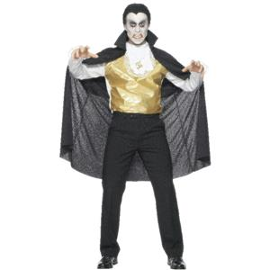 Classic Count Dracula Adult Vampire Costume with Cape CLOSEOUT
