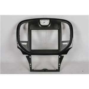 2011-2014 Chrysler 300 Center Dash Radio Climate Bezel Gloss Black Trim Clock