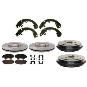 Equinox 05-06 Torrent 02-07 Vue Front Disc & Rear Brake Drums & Shoes