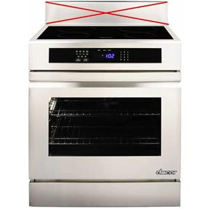 "Dacor Renaissance 30"" 4 Induction Elements Slide-in SS Electric Range RNR30NIFS"