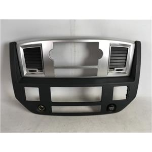 2006-2008 Dodge Ram 1500 Radio Climate Dash Trim Bezel with Vents, 12V, Storage