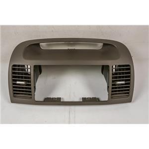 2002-2006 Toyota Camry Radio Dash Trim Bezel with Chrome Knob Vents