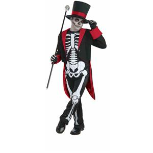 Mister Bone Jangles Skeleton Dapper Child Costume Size Large