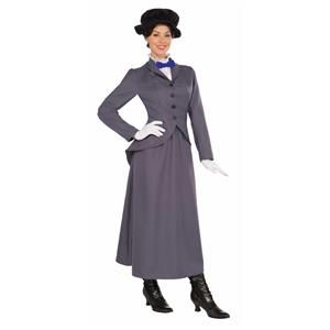 English Nanny Mary Poppins Adult Costume Standard Size