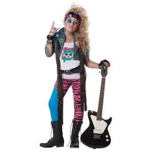 80's Glam Rocker Girls Costume Medium Plus 8-10
