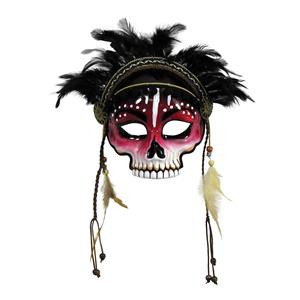 Voodoo Witch Doctor Style Adult Venetian Mask