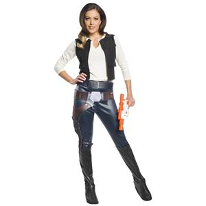 Han Solo Star Wars Movie Sexy Women's Adult Costume Size Small 2-6