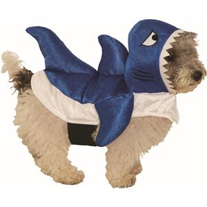 Blue Shark Pet Fish Dog Costume Size Small