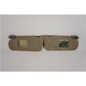 1997-2005 Dodge Neon Sun Visor Set with Mirrors, Passenger Side Uncovered